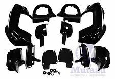 Mutazu Vivid Black Vented Lower Fairing for Harley Road King Glide Street CVO