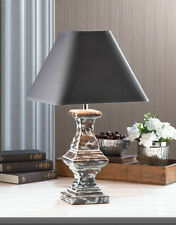Vintage Look CERAMIC TABLE LAMP FABRIC Shade Furniture Lighting bedroom hall NEW
