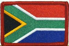 SOUTH AFRICA Flag Military Patch With VELCRO® Brand Fastener Red Border #6