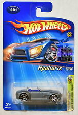HOT WHEELS 2005 FORD SHELBY COBRA CONCEPT REALISTIX 1/20 #001 FACTORY SEALED