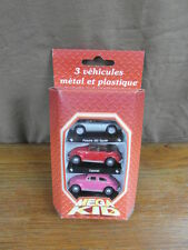 (S3) CARARAMA HONGWELL 1:72 scale COFFRET BOXED x3 PORSCHE 550 + VW BEETLE 1302