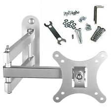 Tilt & Swivel TV Arm Wall Mount Bracket (Silver) for 10-30 Inch LED LCD Plasm...