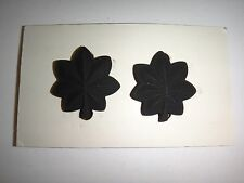 Vietnam War Pair Of US LT COLONEL Rank Metal Subdued Badges On Card Dated 1969