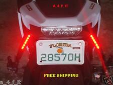 12V BRAKE TAIL LIGHT LED LICENSE PLATE  MOTORCYCLE BOBBER CAFE RACER CLUBMAN