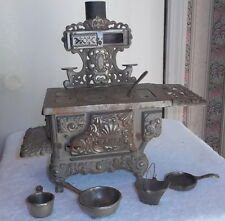 Antique Childs Cast Iron Cook Stove Eagle