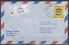 1989 UAE, R-Cover Hamdan to Germany, Crest Coat of Arms Wappen [cm774]