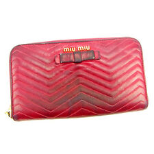 Auth Miu Miu Purse Madras Ladies used J15923