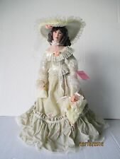 "Paradise Galleries Ashley 21"" Musical Porcelain Victorian Doll by Patricia Rose"