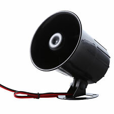 12VDC 15W 120dB Electronic Siren Horn for Car Motorcycle Security System Alarm