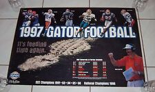 Florida Gators 1997 Schedule Poster Steve Spurrier Fred Taylor