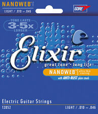 3 sets Elixir 12052 Nanoweb Light Gauge Electric Guitar Strings
