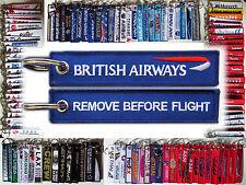 British Airways UK Speedbird keyring tag keychain REMOVE BEFORE FLIGHT