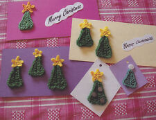 Crochet Pattern ~ CHRISTMAS TREES FOR GREETING CARDS & GIFT TAGS ~ Instructions