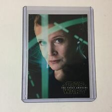 Star Wars The Force Awakens Series 2 Leia Organa Character Poter Cards #4