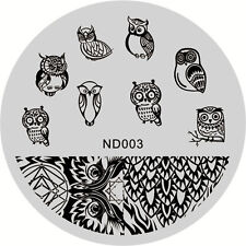 Nail Art Stamping Image Plates Stencil Manicure Stamp Template Cute Owl Design