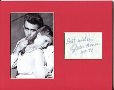 Julie Harris East Of Eden Signed Autograph Photo Display With James Dean