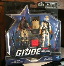 Hasbro GI Joe! Spirit Iron-Knife & Storm Shadow Action Figures! 50 Years Pack!