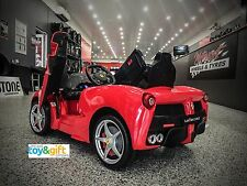 TOY RIDE On CAR  12 VOLT BATTERY OPERATED car LaFERRARI LICENCED DESIGN