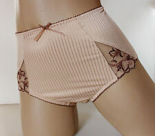 Pretty Ladies Biscuit Beige Midi style Panties Full Bum Knickers UK 10 S