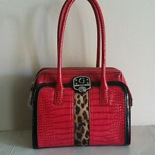 New Guess Tennile Satchel Purse Handbag Shoulder Bag, NWT purse berry multi