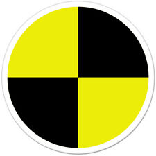 "Crash Test Target Styling car bumper sticker decal 4"" x 4"""