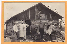 Real Photo Postcard RPPC - Lumber Camp House and Cooks