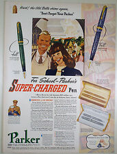Vintage 1941 PARKER VACUMATIC Fountain Pen Full Page Print Ad: DEBUTANTE, MAXIMA