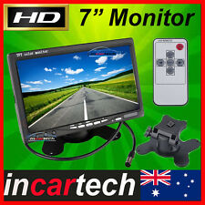 """7"""" inch TFT LCD Color Car Rear View Headrest Monitor For Car Reversing Camera HQ"""
