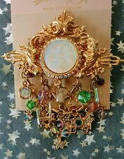 VINTAGE  KIRKS FOLLY SEAVIEW MOON WITH CHARMS BROOCH/PIN