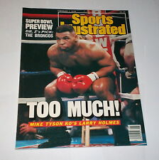 1988 NO LABEL ! Sports Illustrated MIKE TYSON beats LARRY HOLMES !