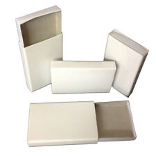 25 Plain white cardboard slide tray wooden match type candy storage favor boxes