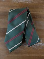 auth DRAKE'S Drakes of London green striped silk tie - NWOT