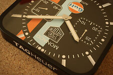 Tag Heuer Monaco Gulf Chrono wall clock - Porsche, GT40, Ideal Christmas Present