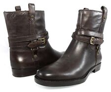 $149 ENZO ANGIOLINI ELISSA Ankle Boots Pull On Moto Biker Flat Womens Shoes 6 36