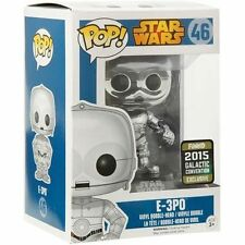 "GCE EXCLUSIVE STAR WARS E-3P0 METALLIC 3.75"" VINYL POP FIGURE FUNKO"