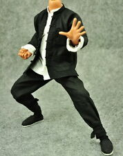 █ ZY Toys Bruce Lee 1/6 Fist of Fury Black Suit Kung Fu Shirt Enterbay DX04 Hot