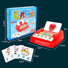 Spell the Word Scrabble Letter Card Learning Early Educational Kids Toys GIFT PZ