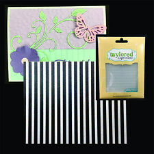 CORRUGATED embossing folder TAYLORED EXPRESSION embossing folders TEEF20 stripes