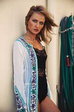 Gorgeous Embroidered Arnhem Masala Duster in White Size S or M RP $148