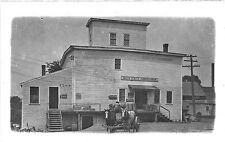 Hollis Center ME Farmer's Union Horses Wagon  Coca Cola Sign RPPC Postcard