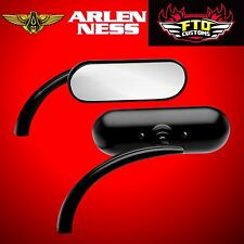 Arlen Ness Mirror Micro Oval Black Left Side 13-412