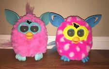 Cotton Candy(Pink/Teal) & Pink Poka Dots Furby lot 2012 boom