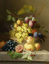 HD Print Oil painting Picture Classical Still Life Fruits Printed on canvas L544