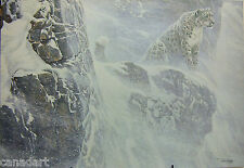 Robert BATEMAN Snow Leopard LTD art Giclee Canvas COA High Kingdom