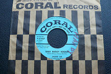 "7"" Jackie Lee - Baby Buggy Boogie/ Sippin Soda - USA Coral Promo"