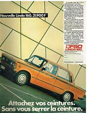 Publicité Advertising 1984 FSO Linda 160