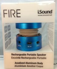 iSound Fire Aluminum 3.5mm Rechargeable Portable Speaker – Blue- ISOUND-1685