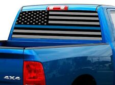 P474 Police Flag Rear Window Tint Graphic Decal Wrap Back Truck Tailgate