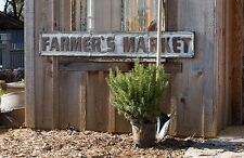 FARMHOUSE EMBOSSED METAL REPRODUCTION RUSTIC 'FARMER'S MARKET'  WALL SIGN