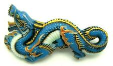 Rare Toshikane Arita Japan Dragon Brooch Pin Hand Painted Porcelain